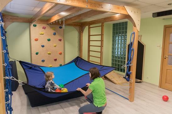 Bogato wyposażone sale do integracji sensorycznej